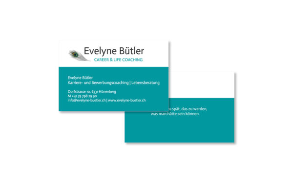 Webfotografik - Evelyne Buetler - Visitenkarten