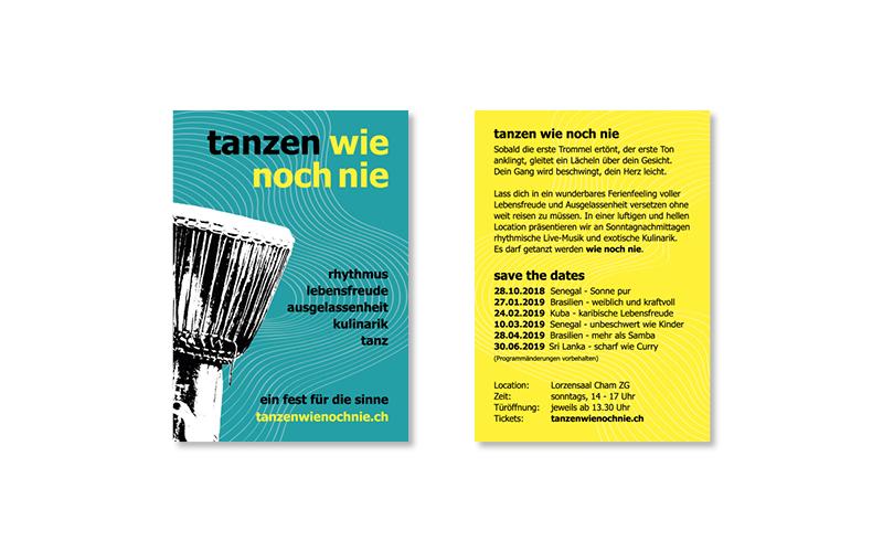 Webfotografik | Tanzenwienochnie Flyer