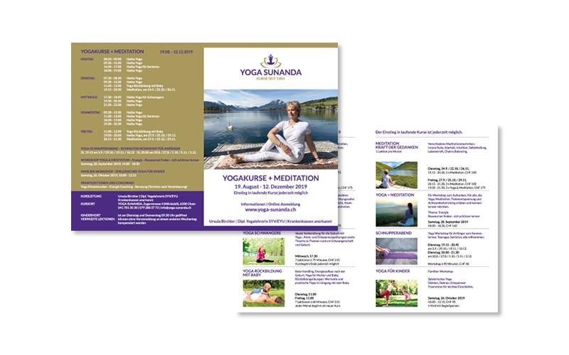 Webfotografik - YOGA SUNANDA - Flyer
