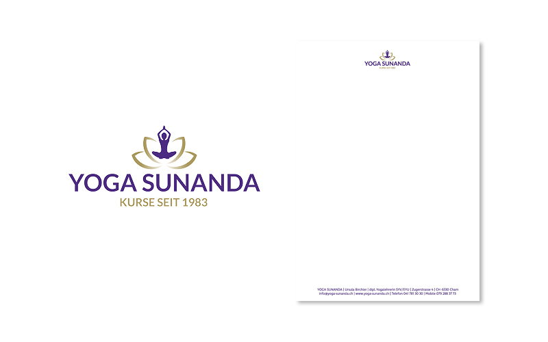 Webfotografik - YOGA SUNANDA - Logo Briefpapier