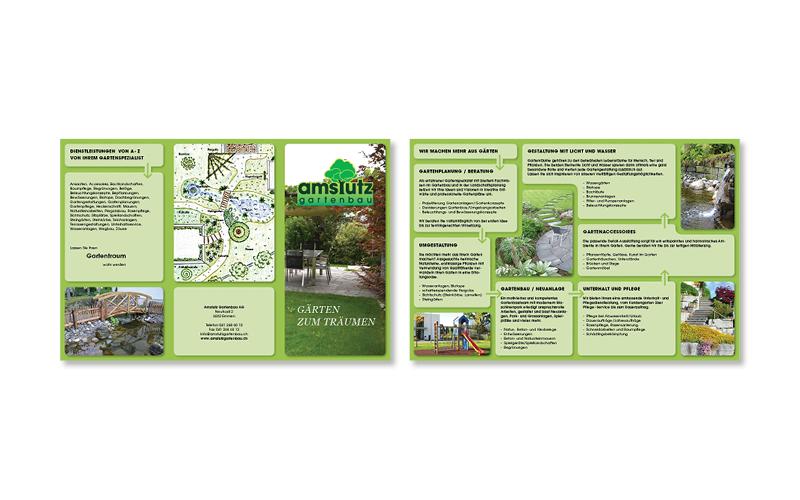 Webfotografik - Amstutz Broschuere Gartenbau