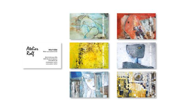 Webfotografik - Atelier Rolf - Visitenkarten 1