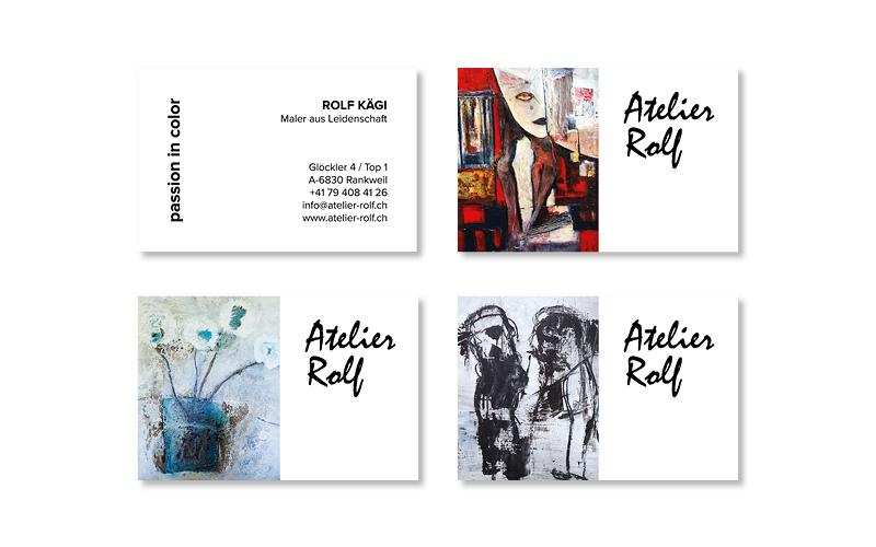 Webfotografik - Atelier Rolf - Visitenkarten 2