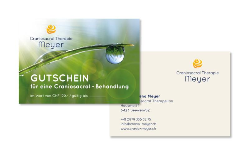 Webfotografik - Craniosacral Therapie Meyer - Gutschein