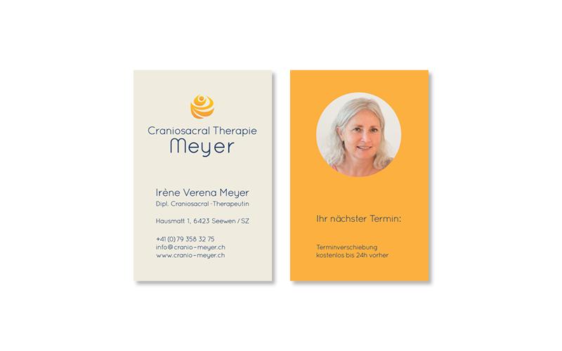 Webfotografik - Craniosacral Therapie Meyer - Visitenkarten