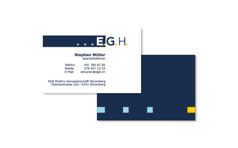 Webfotografik - EGH Hünenberg - Visitenkarten
