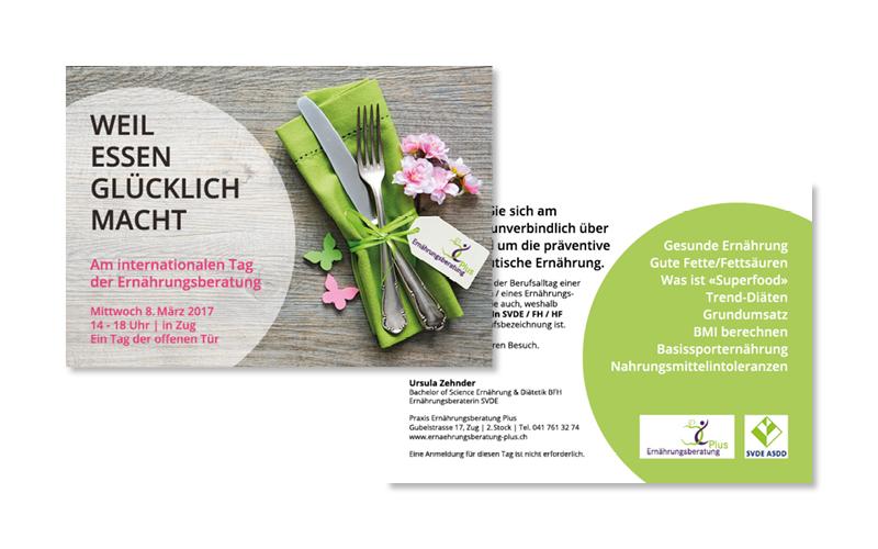 Webfotografik - Ernaehrungsberatung Plus - Event Flyer