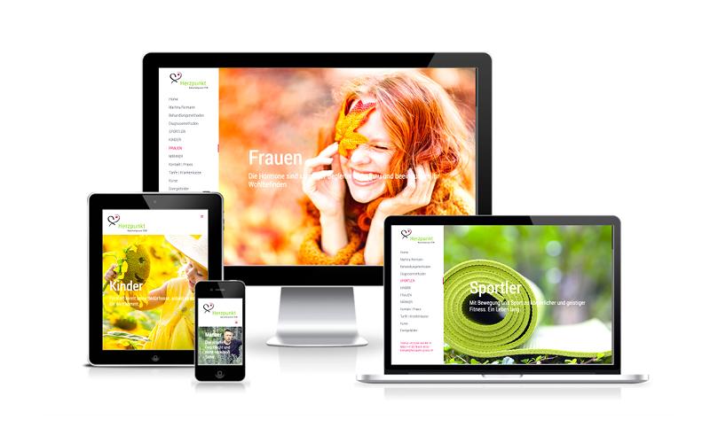 Webfotografik - Herzpunkt Praxis TCM - Website