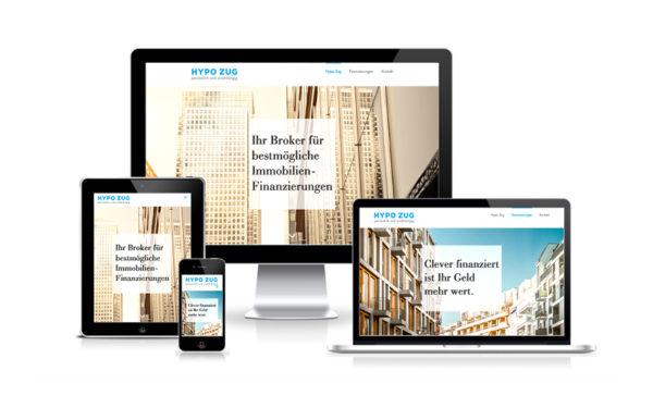 Webfotografik - HYPO ZUG - Website