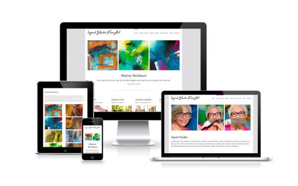 Webfotografik - Ingrid Studer Fineart - Website