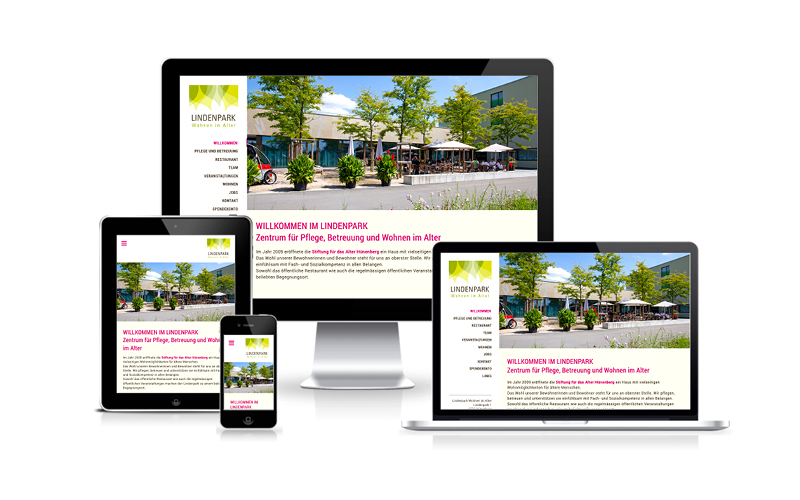 Webfotografik - Lindenpark Huenenberg - Website