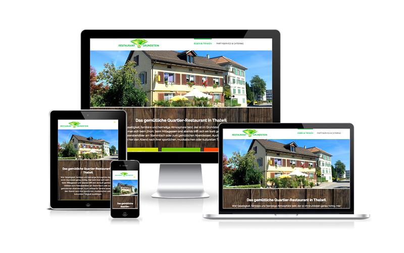 Webfotografik - Restaurant Grundstein - Website