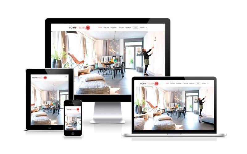 Webfotografik - Wohnatelier22 - Website
