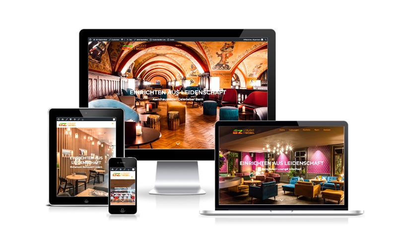 Webfotografik - BZ Objektmöbel - Website